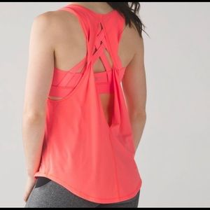Lululemon Ready Set Tank Size 10 Coral